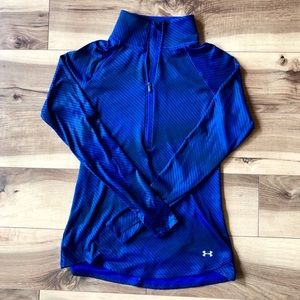 Under Armour Semi-Fitted Long Sleeve, Half Zip Top